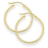 2 Inch Yellow Gold Hoop Earrings