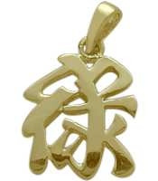 10 Karat Yellow Gold Chinese WEALTH Pendant