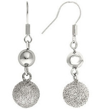 Stainless Steel Silver Immersion Plated Earrings