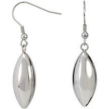 Stainless Steel Oblong Dangle Earrings