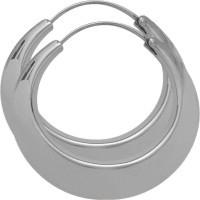 Elegant Sterling Silver Hoop Earrings