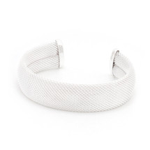 Ladies 3 Inch Wide Wire Mesh Cuff Bracelet