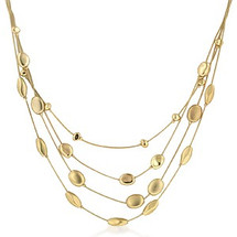 14K Gold Bonded Ladies Circle Of Beauty Necklace