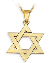 14 Karat High Polish Religious Yellow Gold Star of David Jewish Pendant