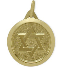 Yellow Gold 14 Karat Star of David Pendant