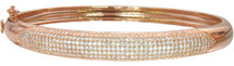 Rose Plated Pave Set 8mm Bangle Bracelet
