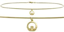 10 Karat Yellow Gold Celtic Charm Snake Anklet