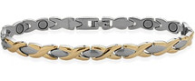 7mm Designer Two-Tone Steel Magnetic Men's Bracelet