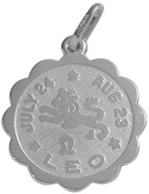 10 Karat White Gold Leo Zodiac Pendant (July 24 - Aug 23)