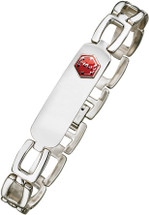 11mm Stainless Steel Medical ID Bracelet