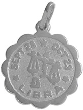 10 Karat White Gold Libra Zodiac Pendant (Sept 23 - Oct 23)