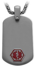 Titanium Engravable Dog Tag Medical Pendant