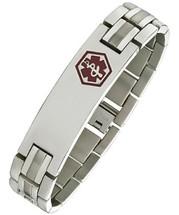 16mm Titanium Adjustable Medical ID Bracelet