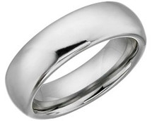 7mm Half Round Tungsten Carbide Comfort Fit Ring
