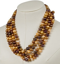 Multi Chocolate Pearl 72 Inch Necklace