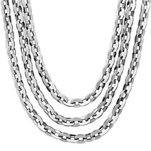 Stainless Steel 5mm Flat Rolo Multi Strand Chain