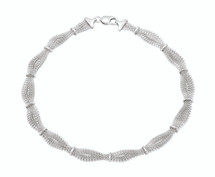 Genuine Sterling Silver 17 Inch Braided Mesh Necklace
