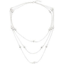 18 Inch Sterling Silver 3-Strand Bead Necklace