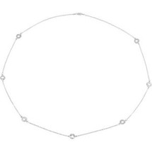 32 Inch Polished Sterling Silver Necklace