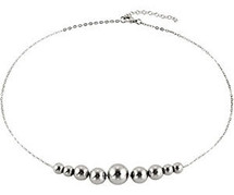 20 Inch Stainless Steel Ball Necklace with 2 Inch Extender