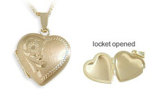 Ladies Yellow Gold Heart Locket