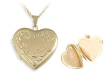 Ladies Designer Yellow Gold Heart Locket