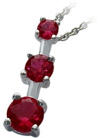 Sterling Silver Created Ruby Past Present Future Pendant