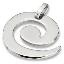 Stainless Steel Swirl Pendant