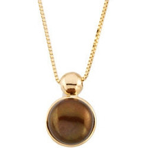 14 Karat Yellow Gold Chocolate Pearl Pendant