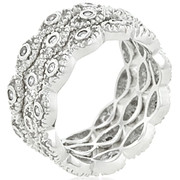 Ladies 9mm Fashion Stackable Eternity Rings