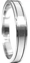 Stainless Steel Thin Double Groove Ring