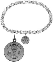 Sterling Silver Holy Communion Religious Charm Bracelet