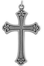 Medium Sterling Silver Religious Detailed Cross