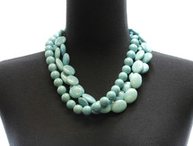 Turquoise Multistrand Natural Bead Necklace