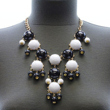Black & White Bubble Necklace & Earring Set