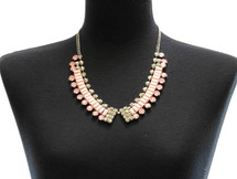 Pink Collar Statement Necklace & Earring Set