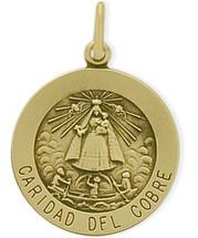 14 Karat Yellow Gold Caridad Del Cobre Religious Medal Religious Medallion