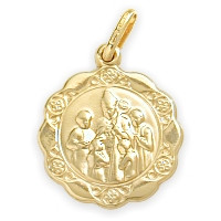 14 Karat Gold Inscribed Religious Confirmation Medal Medallion