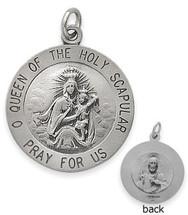 Sterling Silver Holy Scapular 18.5mm Religious Medal Medallion