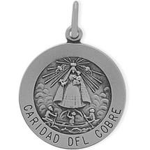 Sterling Silver Caridad Del Cobre Medal Medallion