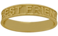 Yellow Gold BEST FRIENDS Expression Ring