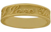 Yellow Gold I LOVE YOU Expression Ring