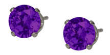 6mm SWAROVSKI Elements Purple Crystal Stud Earrings