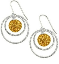 SWAROVSKI® Elements Sterling Silver Circle Ball Earrings