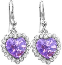 38 Stone SWAROVSKI® Elements Heart Earrings