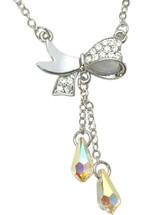 SWAROVSKI® Elements 19 Stone Bow Pendant