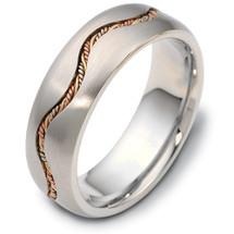 Designer 14 Karat Woven Tri Color Gold Wedding Band Ring