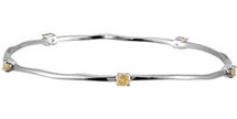 Genuine Sterling Silver Citrine Stackable Bracelet