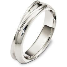 5mm 14 Karat White Gold Multi Texture Wedding Band Ring