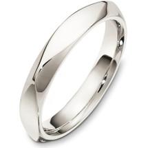 14 Karat White Gold 4mm Multi Texture Wedding Band Ring